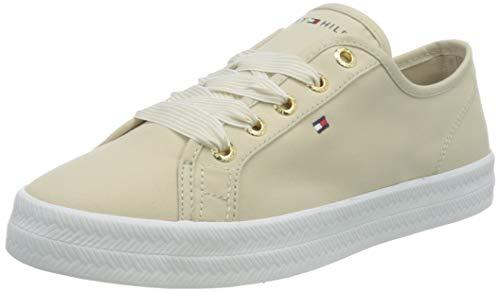 Tommy Hilfiger Essential Nautical Sneaker, Nautica Esencial Mujer, Beige Clásico, 39 EU