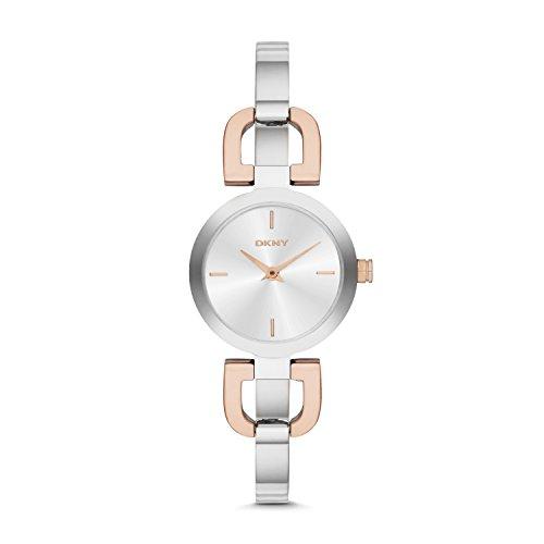 DKNY NY2137 Reade Uhr Damenuhr Edelstahl 50m Analog Silber Bicolor rosé
