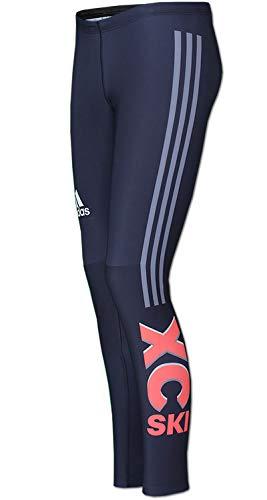 adidas Damen Race Tight 3-Streifen Laufhose Running Hose XC Ski Langlauf (46)