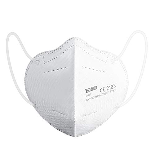 IDOIT Mascherine FFP2 20 PCS certificate CE Semimaschera filtrante 5 Strati mascherine monouso sigillate singolarmente