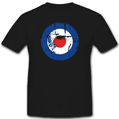 Copytec Royal Air Force escarapela Britisch Army Army Aire Fuerzas Armadas Aire Arma GB Inglaterra Reino Unido–Camiseta # 1866 Negro X-Large