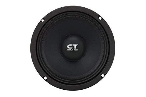 CT Sounds 8 Inch Car Audio Speaker - Midrange, 4 Ohm Impedance, 60W (RMS)   180W (MAX) Power Per Speaker, 1.5' Voice Coil, Shallow ProAudio (1 Speaker)  Tropo PA 8
