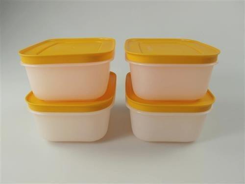 TUPPERWARE 30938, 4 contenitori per congelatore, serie Cristalli di ghiaccio, 450 ml, colore...