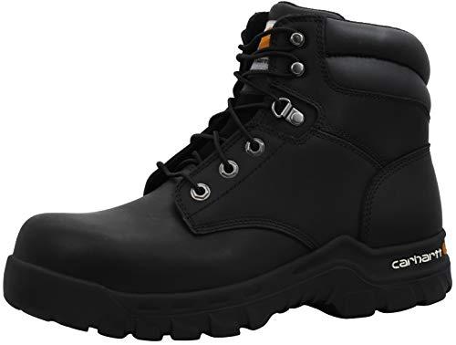 Carhartt Men's Rugged Flex 6' Comp Toe Construction Boot, Black Oil Tanned, 8