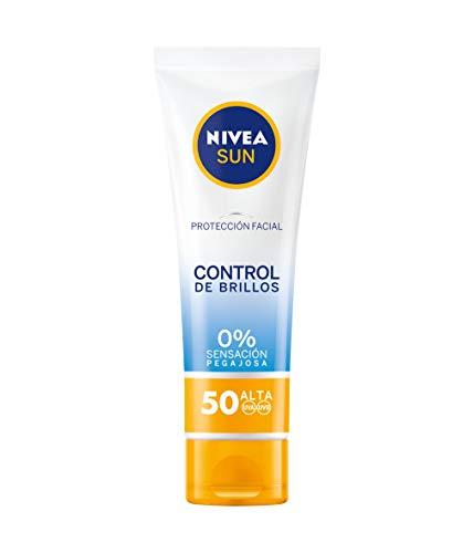 NIVEA SUN UV Control de Brillos FP50 Crema solar facial matificante...