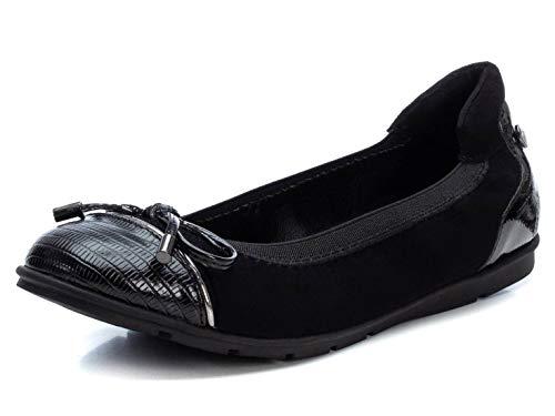 XTI 44700, Zapatos Tipo Ballet Mujer, Negro, 38 EU
