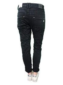 Karostar-Stretch-Baggy-Boyfriend-Jeans-Nieten-Seitenstreifen-Black-M-38