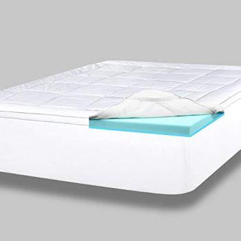 ViscoSoft 4 Inch Pillow Top Gel Memory Foam Mattress Topper Full   Serene Dual Layer Mattress Pad