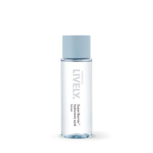 AROMATICA LIVELY SuperBarrier Hyaluronic Acid Toner 4.39oz / 130ml, Deep moisturizing, Vegan, EWG VERIFIED