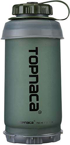 Topnaca Flacone Pieghevole Pieghevole Hydro Flask, 750ml / 2.9oz BPA Free Riutilizzabile Compatto Pieghevole Leggero per Campeggio Backpacking Escursionismo Arrampicata Viaggi attività all'aperto
