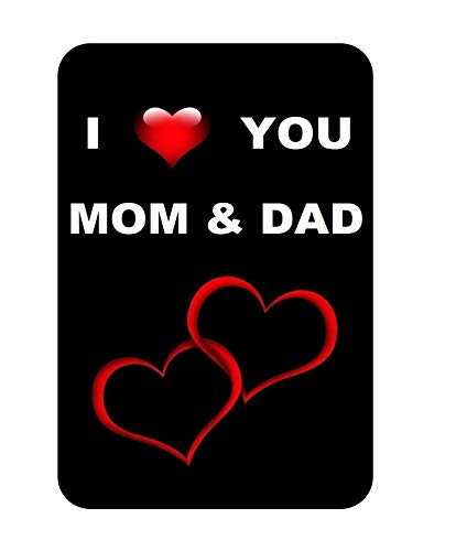 EvolveFISH I Love You Mom and Dad Everlasting Fridge Magnet Souvenir Gift on Any Occasion for Your Loving Mother and Father