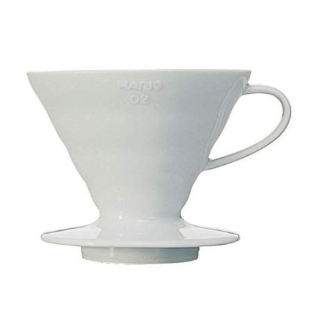 Hario V60 Kaffeefilterhalter VDC-02W, Porzellan, Größe 2, 1-4 Tassen