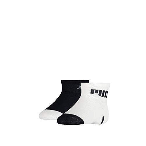 PUMA Baby Mini Cats Lifestyle Socks (2 Pack) Calzini, Blu Navy/Bianco, 23-26 Unisex-Bimbi