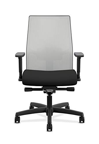 Product Image 4: HON Ignition 2.0 Mid-Back Adjustable Lumbar Work Fog Mesh Computer Chair for Office Desk (Black Fabric)