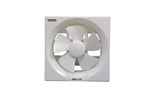 Usha Crisp Air 150mm Sweep Size, 240mm Duct Size Exhaust Fan (White)
