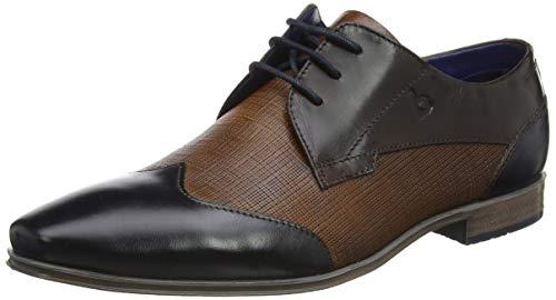 bugatti 312420081000 Morino, Zapatos de Cordones Derby Hombre, Marrón Coñac, 42 EU