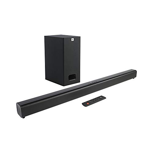JBL Cinema SB231, 2.1 Channel Dolby Digital Soundbar with Wired Subwoofer for Deep Bass, Home...