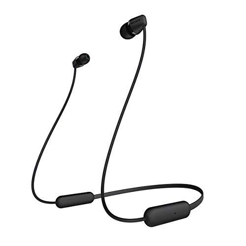 Sony WI-C200, Auriculares  inalámbrico con tecnología bluetooth, Negro