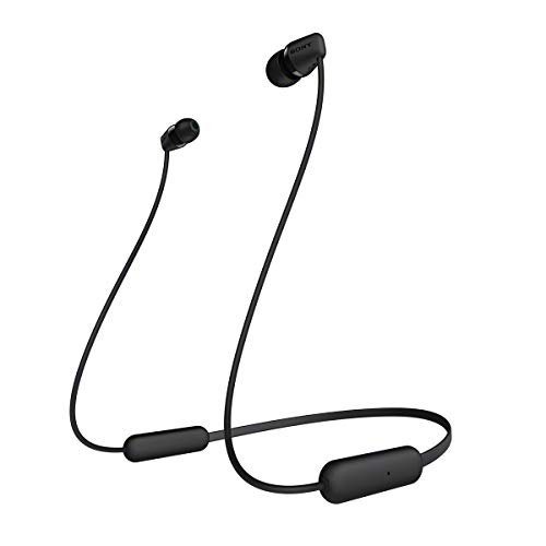 Sony Wi-C200 - Cuffie Wireless In-Ear, Compatibile con Google Assistant E Siri, Batteria Fino a 15 Ore, Bluetooth, Nero