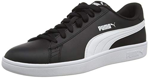 PUMA Smash V2 L, Zapatillas Unisex Adulto, Negro Black White, 42 EU