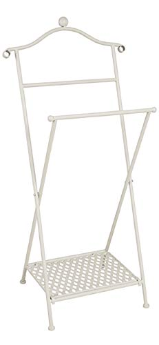 Haku Möbel Herrendiener - aus Metall in Weiß gekälkt - klappbar Höhe 98 cm
