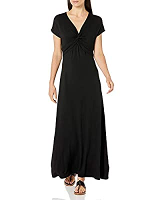 This versatile and stylish shorts-sleeve maxi dress featuring a twist front is perfect for a casual day out This versatile full-length maxi dress is cut to flatter any body type Everyday made better: we listen to customer feedback and fine-tune every...