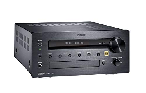 Magnat MC 100 | Kompakter High-End Stereo CD-Receiver mit Hi-Res Qualität | CD, DAB+, FM, Bluetooth®, High-End-Audiostandard Qualcomm® aptX(TM) - schwarz