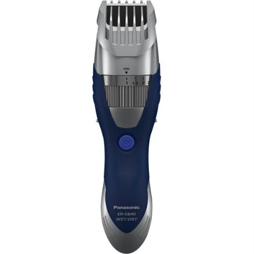 Panasonic Cordless Men's Beard Trimmer With Precision Dial, Adjustable  19 Length Setting, Rechargeable Battery, Washable - ER-GB40-S (Blue)