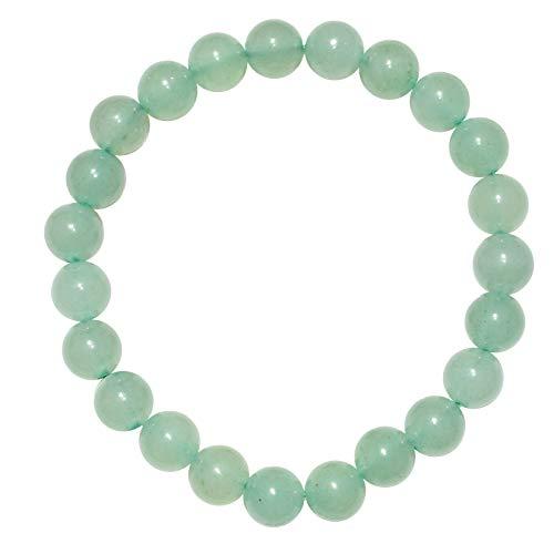 CHARGED Green Aventurine Crystal Bracelet 8mm Round Tumble...