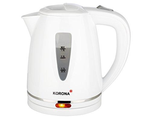 Korona weiss 20116 Wasserkocher mit 1 Liter Fassungvermögen, Kunststoff