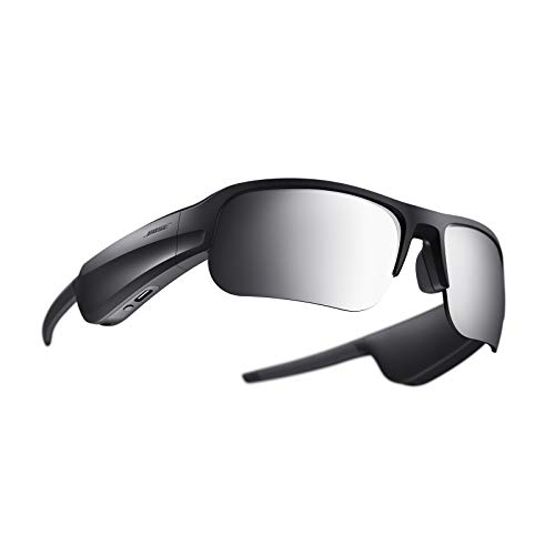 Bose 839769-0100 Frames Tempo—Sports Audio Sunglasses with Polarised Lenses and Bluetooth Connectivity—Black, Lens Width: 65 mm   Bridge Width: 17 mm   Temple Length: 172.5 mm   Temple Width: 157 mm