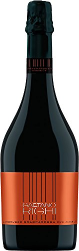 LAMBRUSCO Grasparossa di Castelvetro DOC Amabile - Vini Righi - Vino rosso - Bottiglia 750 ml