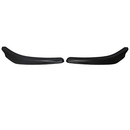Front Bumper Lip Compatible With Universal Vehicles 24 Inch x 4 Inch, IKON Style Black PP Front Splitter Finisher Under Chin Spoiler Add On by IKON MOTORSPORTS