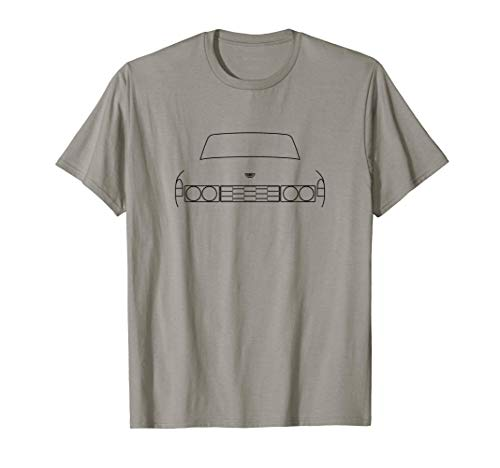 Rover P6 classic car outline graphic (black) T-Shirt