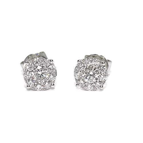 Pendientes de diamantes de 0.67cts montados en oro blanco de