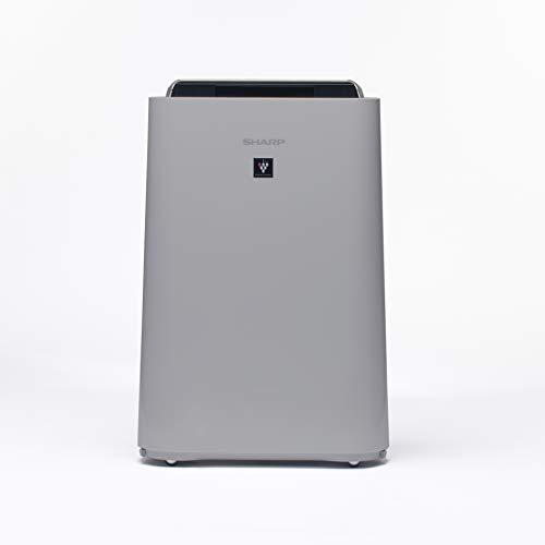 SHARP UA-HD60E-L Luftreiniger (mit Befeuchtungsfunktion, Verbesserung der Luftqualität, Ideal für Allergiker, drei Stufen Filtersystem, HEPA-Filter, Räume bis zu 48 m²) hellgrau