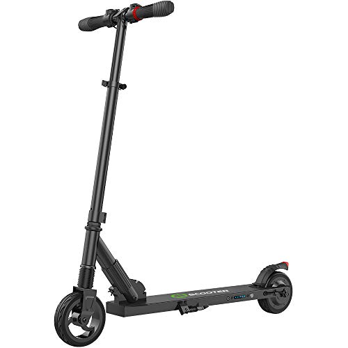 E Scooter Tret-Roller, CityRoller Elektrischer Roller Klappbar mit 12km Langstrecken Akku, bis zu 23km/h, Einfach zu Falten und zu Tragen E-Roller für Erwachsene Jugendliche und Kinder (Schwarz)