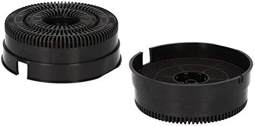 DREHFLEX AK111-2 2 filtri al carbonio per diverse cappa aspiranti Bauknecht, adatti a Whirlpool 484000008782 AKB000, Elica Respekta CFC0038000 Modello58 Mod58 Tipo58 Type58, NYTTIG FIL220
