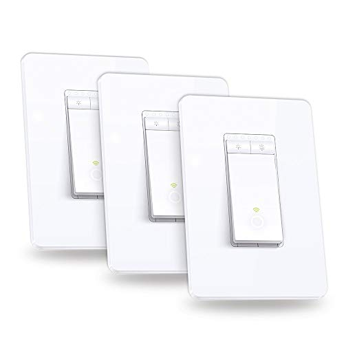 Kasa Smart Dimmer Switch by TP-Link, Single Pole, Needs Neutral Wire, WiFi Light Switch for LED Lights, Works with Alexa and Google Assistant, UL Certified, 3-Pack(HS220P3)