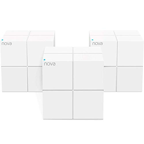 Tenda MW6 Nova Wave 2 802.11AC, Mu-Mimo Whole Home Wi-Fi Mesh System, 3-Pack