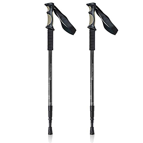 Bafx Products Adjustable Anti Shock Aluminum Hiking Poles