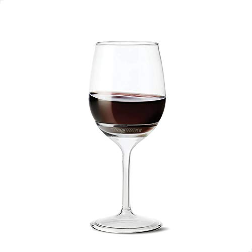 TOSSWARE 14oz Stemmed Vino SET OF 12, Recyclable, Unbreakable & Crystal Clear Plastic Wine Glasses