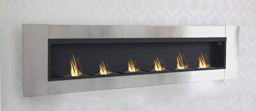 Druline 6 Burner Luxury Chimney Bio Ethanol Gel Fireplace Wall Cheminee Stainless Steel High Gloss
