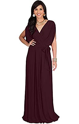 Plus size maxi dresses; plus sized gowns; curvy maxi dresses for women; slimming Maroon Wine Red maxi dress; flattering stretchy clothing; full figure apparel; ladies garments; womans comfortable maxi's; dressy women's clothes; big size dress Modest ...