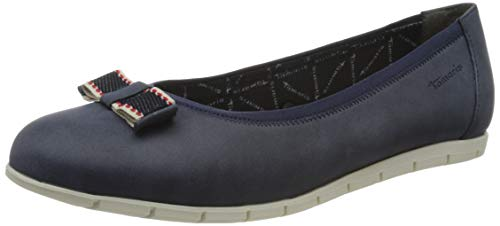 Tamaris 1-1-22102-26, Zapatos Tipo Ballet Mujer, Azul Marino, 37 EU