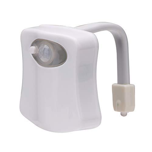 chanhan, Luce Notturna per WC, 8 Colori cangianti, Luce Notturna per WC con sensore di Movimento a...