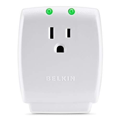 Belkin F9H100-CW Single Outlet SurgeCube Surge Protector, 1080 Joules (F9H100-CW)