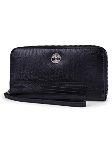 31X7JHb MJL Rfid wallets for women - the Timberland zip around wallets for women with wristlet strap is a ladies wallet with rfid protection that stops electronic pick pocketing, protect your credit cards, debit cards, bank cards or any other rfid enabled cards Features and benefits - a stylish zip wallet for women featuring: a full zippered closure, 10 credit card pockets, 2 slip pockets, 2 accordion style pocket, wristlet strap An interior zipper coin pocket and made from 100% leather 100% leather women's cluth wallet - Each women's zippered wallet is made with a soft genuine leather that makes this stylish women's rfid wallet The perfect everyday leather clutch with the Timberland signature tree logo on the front flap