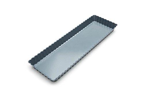 Fox Run 44512 Rectangular Loose Bottom Tart/Quiche Pan, Preferred Non-Stick, 14-Inch