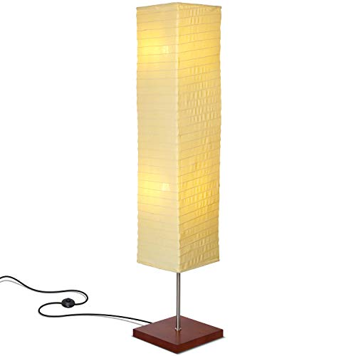 Brightech - Tranquility LED Floor Lamp for Living Rooms & Bedrooms  Mid Century Modern Minimalist, Ambient Light  Perfect for Beside The Bed or Office, Corner Lamp - Havana Brown